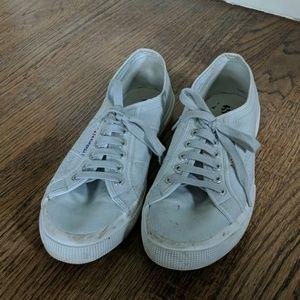Women's Superga light gray sneakers size US 10